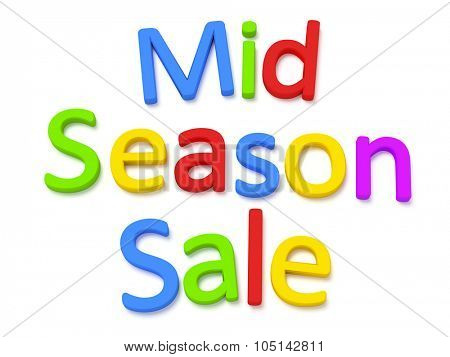 Some colorful magnetic letters building the words mid season sale