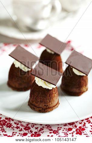 Small Chocolate Cake. Sweet Cake