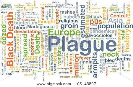 Background concept wordcloud illustration of plague