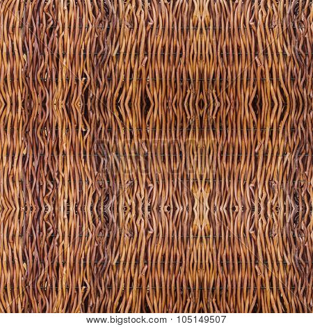 Texture Of Brown Rattan Wood