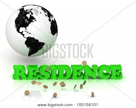 Residence- Bright Color Letters, Black And White Earth