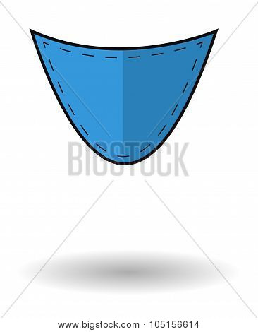 Blue Jeans Pocket Vector Icon