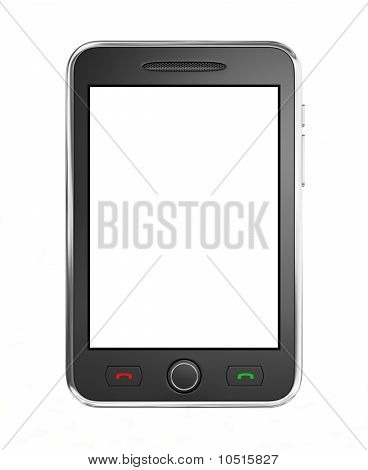 Black mobile smart phone.