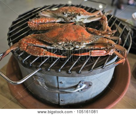 Steamed Crab for seafood and sauce spicy