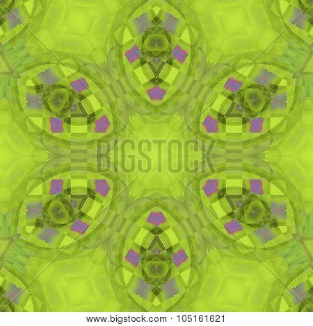 Seamless ornament bright green purple