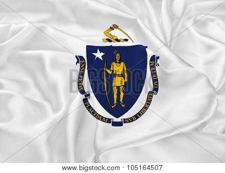 State Flag Of Massachusetts