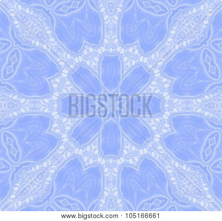 Seamless floral pattern blue white