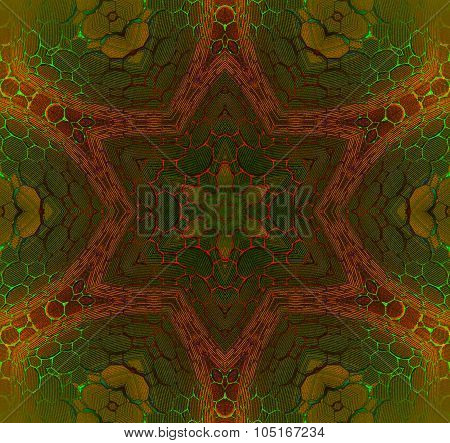 Seamless star pattern earth colors
