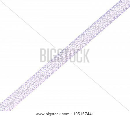 Carbon nanotube on white background