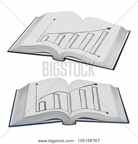 Collection Of Book Isolated