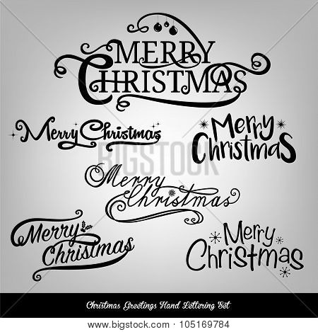 Christmas typography collection for card design