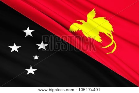 Flag Of Papua - New Guinea, Port Moresby, Melanesia