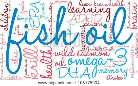 Fish Oil Word Cloud