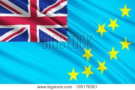 Flag Of Tuvalu, Funafuti - Polynesia