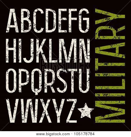 Sans Serif Font In Military Style