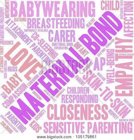 Maternal Bond Word Cloud