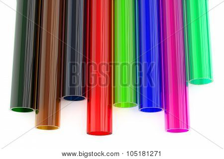Colored Acrylic Plastic Tubes
