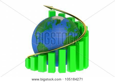 Growth Graph With Globe