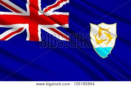 Flag Of Anguilla, United Kingdom - Valley