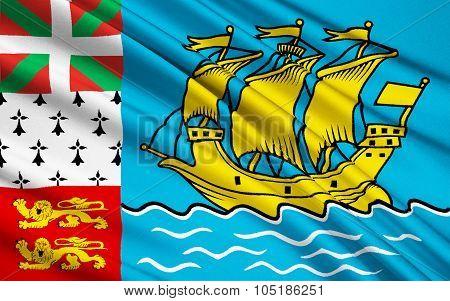 Flag Of Saint Pierre And Miquelon (france)