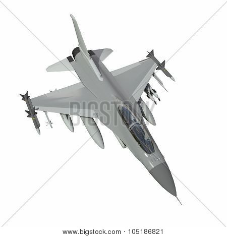 The three-dimensional model of a military aircraft of the NATO countries. Aircraft with full ammunit