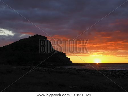 Sunset, Giant''s Causeway, County Antrim, Northern Ireland