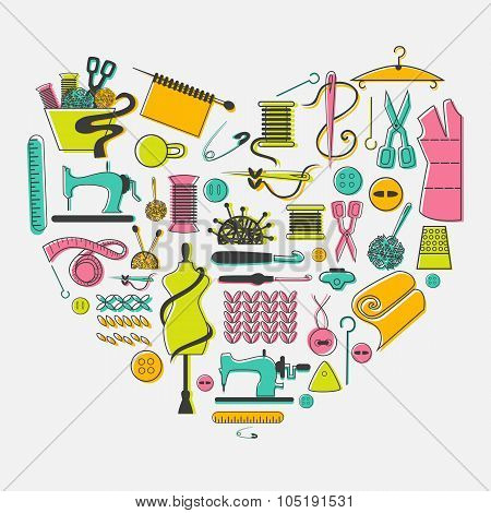 I love sewing and needlework set.  Tailoring, needlework, equipment.