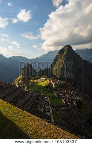 Last Sunlight At Machu Picchu, Peru