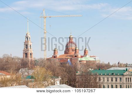 Pezna, Russia - 14 October 2015: Spassky Cathedral Under Construction
