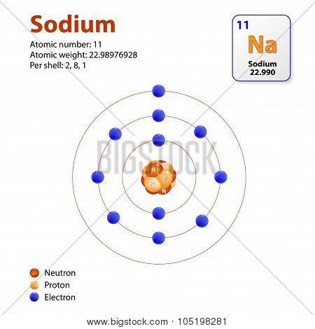 Atom Sodium Model