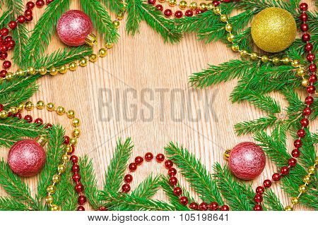 Christmas And New Year Festive Frame Background