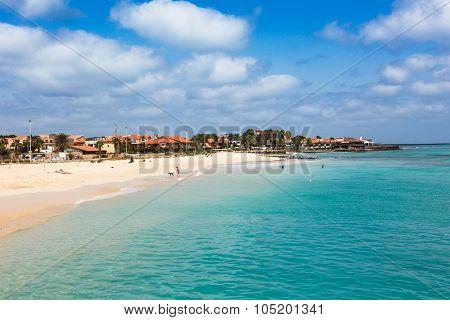 Santa Maria Beach In Sal Island Cape Verde - Cabo Verde