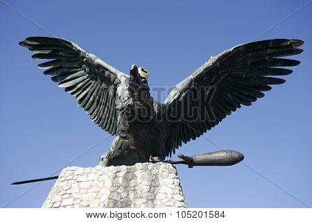 Turul Bird Monument In Hungary Tatabanya