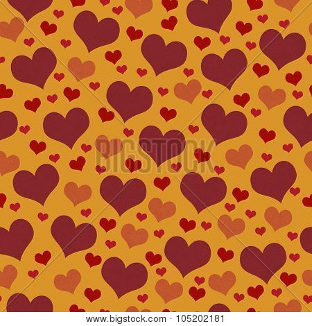 Red And Orange Hearts Tile Pattern Repeat Background