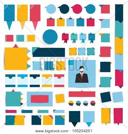 Big Set Of Infographics Flat Design Elements, Buttons, Stickers.