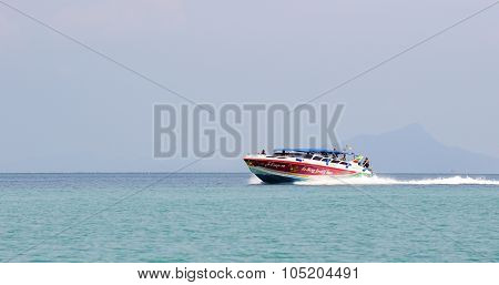 Thailand Ocean Landscape With Boats
