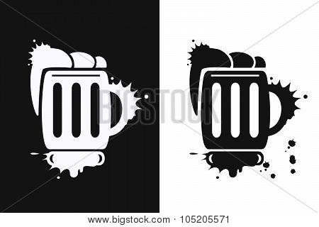 Beer Mugs Symbol.