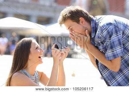 Proposal Of A Woman Asking Marry To A Man