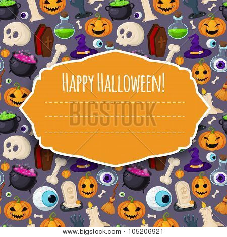 Happy Halloween cover for your design