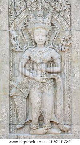 Apsara On The Wall, Angkor Wat