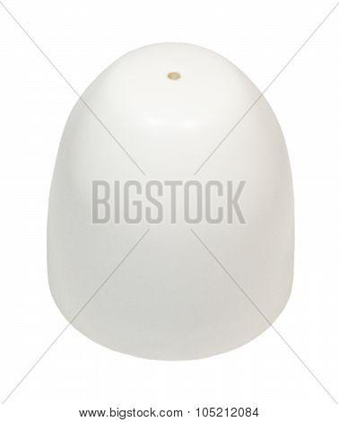 Single Salt Shaker On A White Background