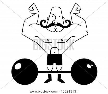 circus athlete bold