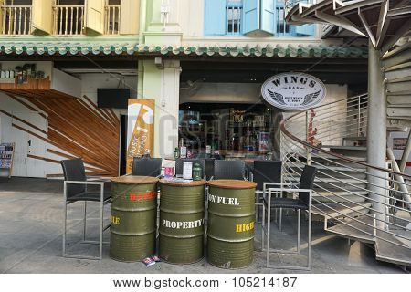 Coffee Shops At Chinatown In Singapore