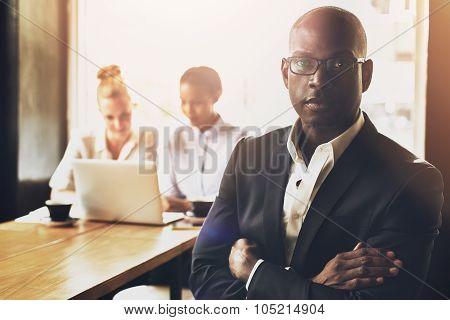 Confident Succesful Black Business Man