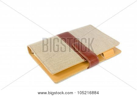 Portable Notebook Cover On White Background