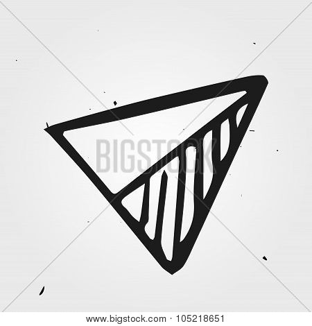 Hand Drawn Triangle, Abstract