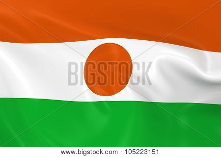 Waving Flag Of Niger - 3D Render Of The Nigerien Flag With Silky Texture