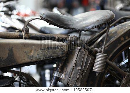 Vintage Motorcycle Saddle