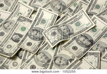 Horizontale Geld Hintergrund