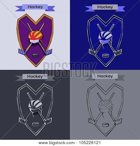 Hockey Badge Emblem Symbol